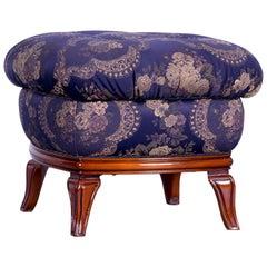 Nieri Palatino Designer Foot Stool Purple Blue Fabric Pattern Flowers