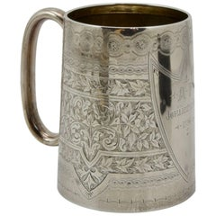 19th Century Sterling Silver Souvenir Cup from Birmingham