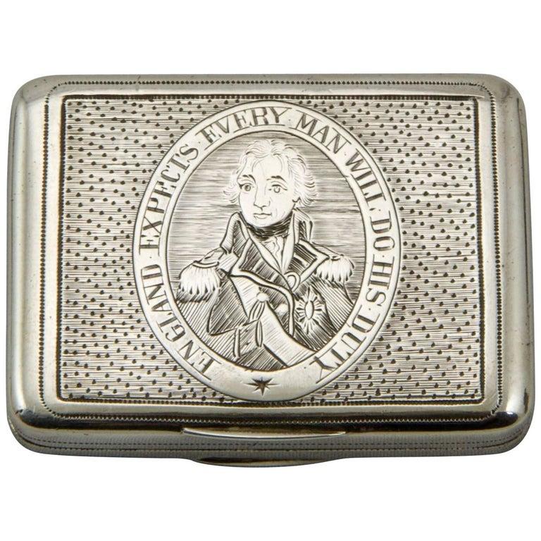 Beginning of 19th Century Admiral Nelson Vinaigrette For Sale