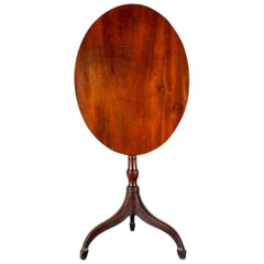 Small Antique Mahogany Tilt Top Table