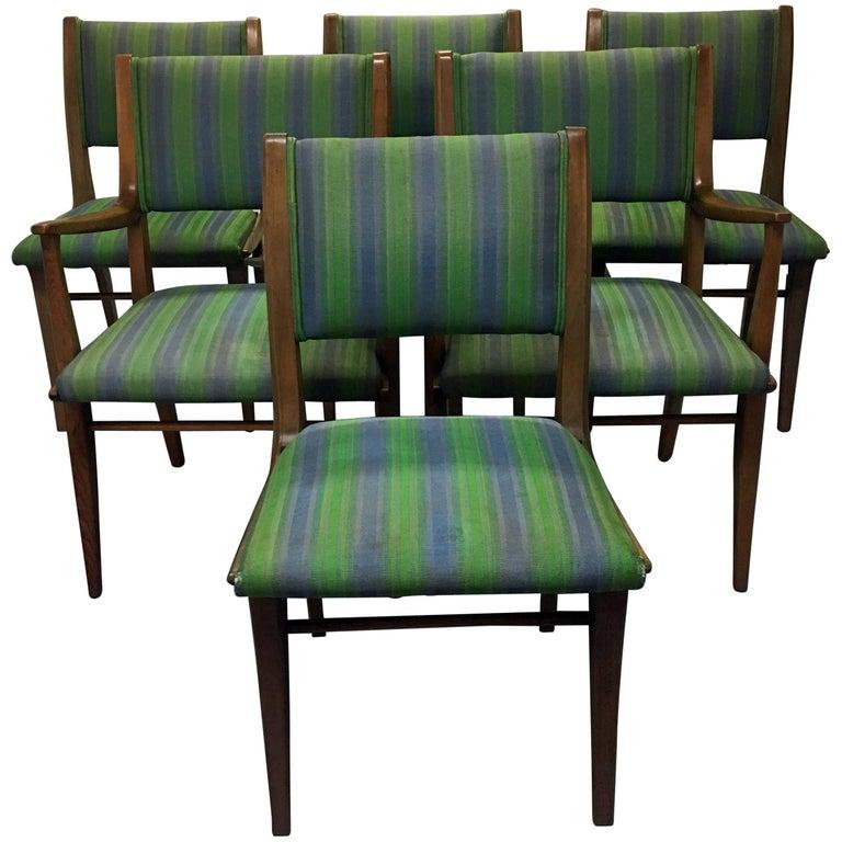 Set of Six Mid-Century Modern John Van Koert Drexel Profile Dining Chairs