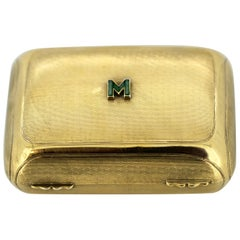 Art Deco Sterling Silver Soap or Pill Box, Finnigans Ltd, London, 1910