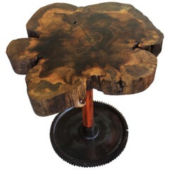 Side Table or Corner Board in Brazilian Hardwood the 'Flower' by Deodato