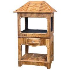 Rattan Etagere or Dry Bar