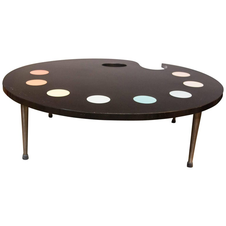 Mid-Century Modern Painter's Palette Coffee Table For Sale