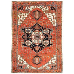 Antique Persian Heriz Serapi Rug, circa 1900