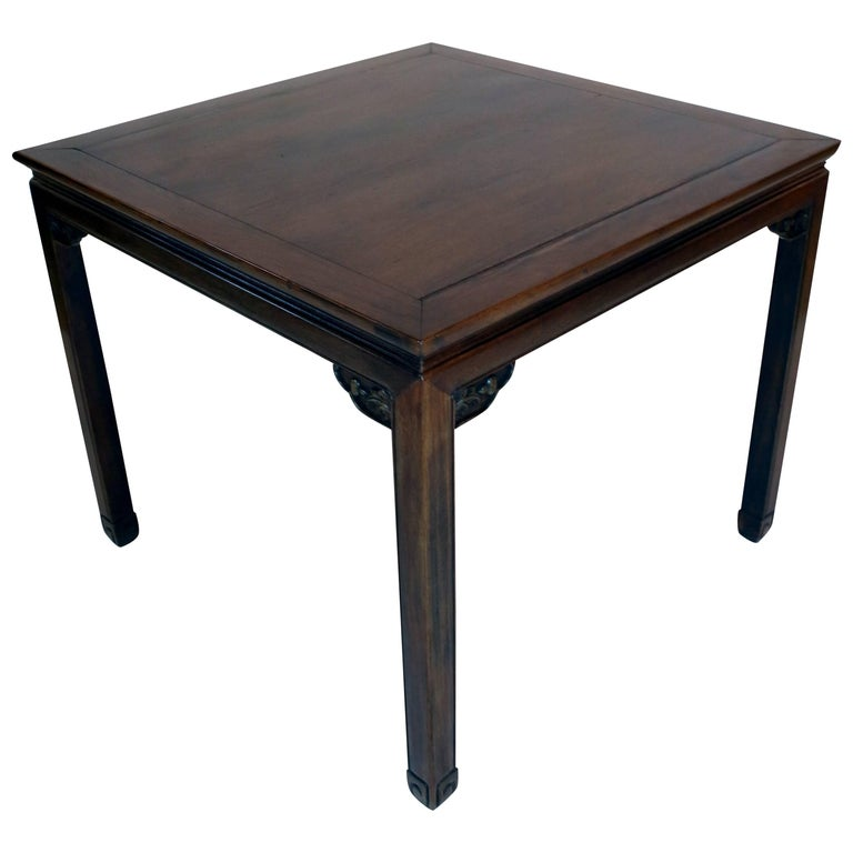 19th Century Chinese Carved Nanmu Wood Game / Mahjong Table in the Ming Style