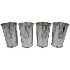 Set of four Scearce Sterling Silver Jumbo Juleps 'a/k/a Highballs'