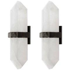 DDM Rock Crystal Quartz Wall Sconces