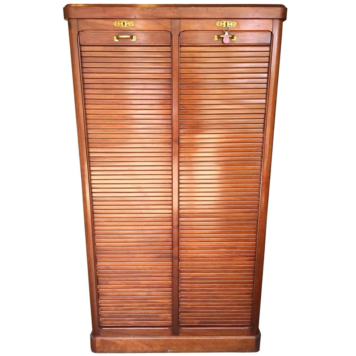 Wonderful Antique Mahogany French Filing Cabinet For Sale