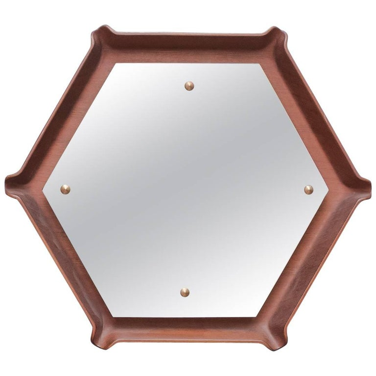 Mid Century Italian Wall Mirror For Sale