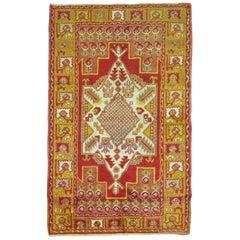 Vintage Turkish Oushak Bright Rug