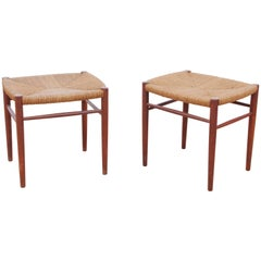 Mid-Century Modern Danish Pair of Stools in Teck Model 316