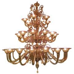 Venini Art Deco 1930 Murano Chandelier 36 Lamps