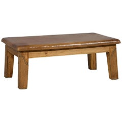 Vintage Ralph Lauren Distressed Leather Top Coffee Table