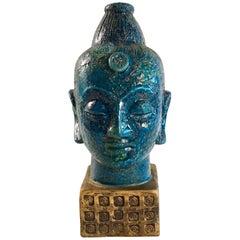 Bitossi Aldo Londi Buddha Head, Italy, circa 1965