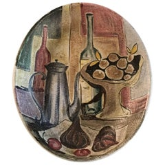 Marcello Fantoni Italy Wall Plaque Still Life, circa 1950