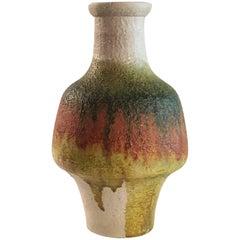 Marcello Fantoni Shaped Vase, Italy, circa 1960 Multi-Color