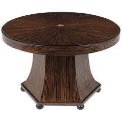 French Macassar Round Centre Table