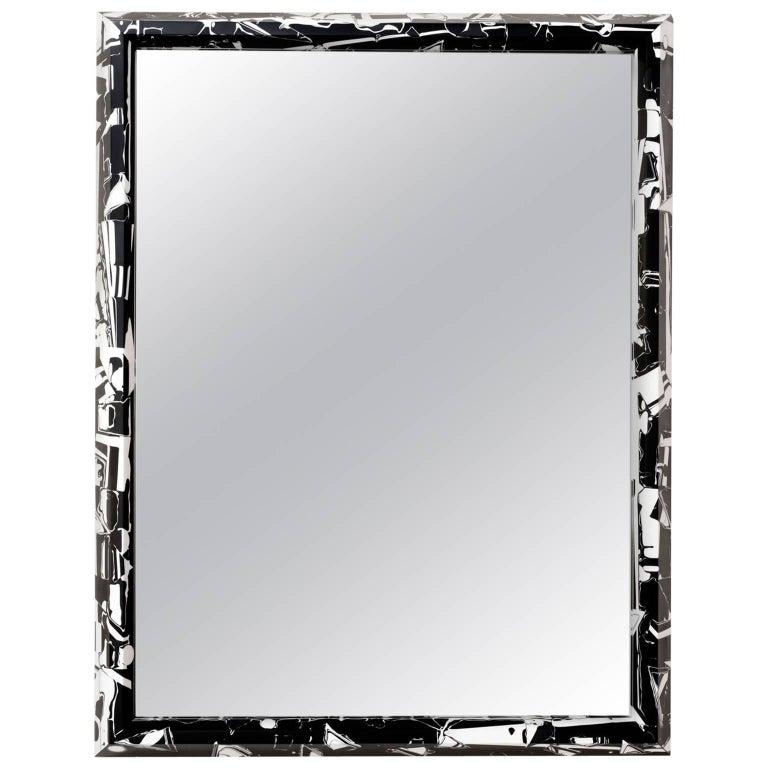 21st Century Resin Black Magic Mirror For Sale