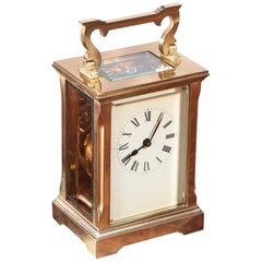 Quality Antique French Brass Carriage Clock