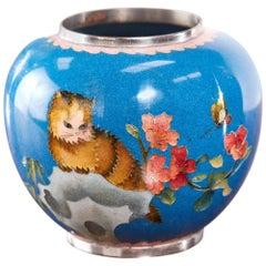 Quality Antique Miniature Japanese Cloisonné Vase