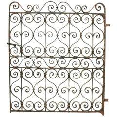 19th Century English Wrought Iron Garden Gate
