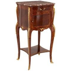 Francois Linke Marble, Gilt Bronze and Kingwood Side Cabinet