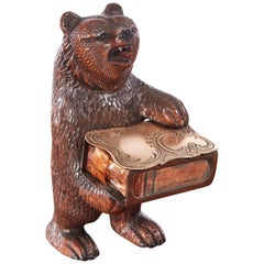 Quality Antique Carved Black Forest Bear