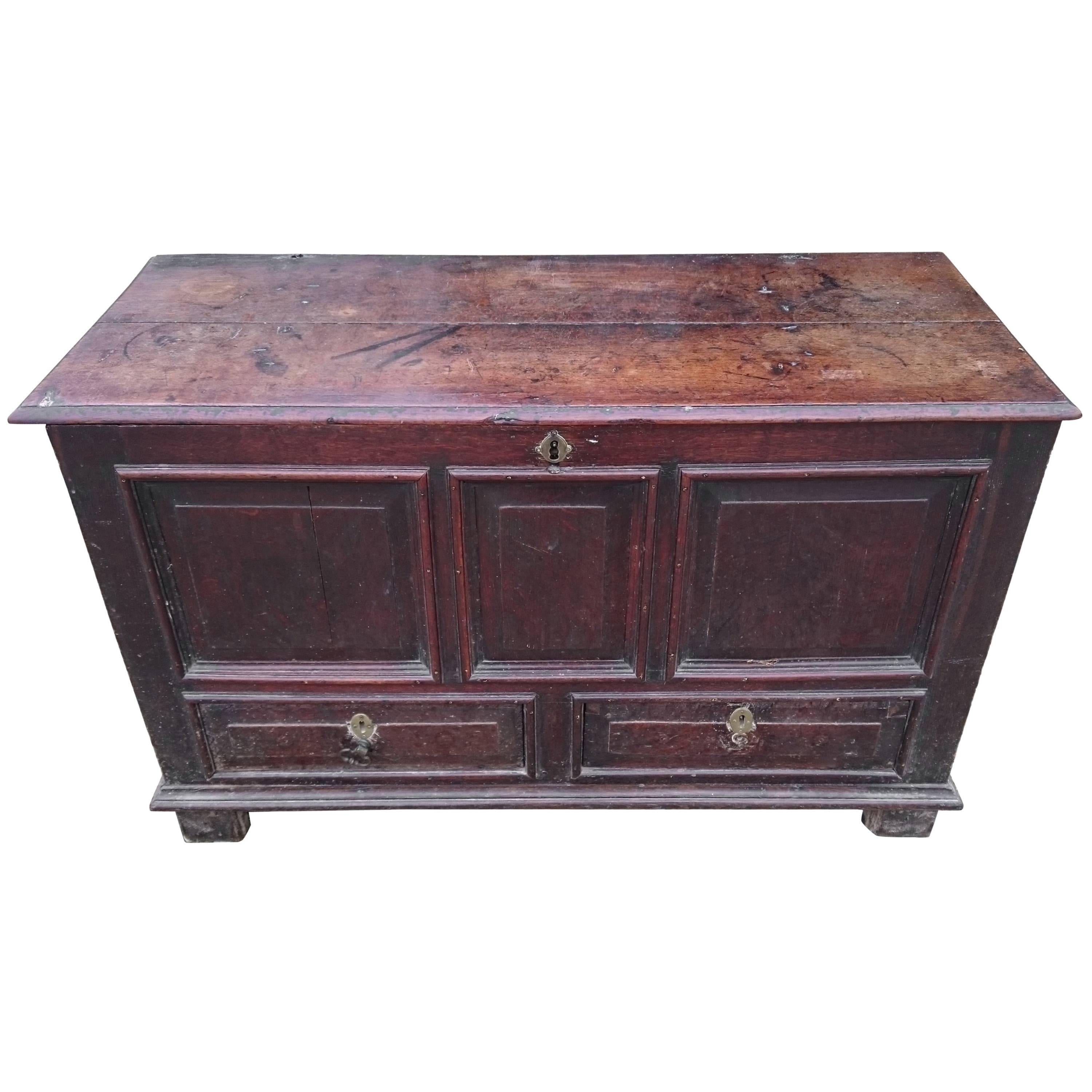 Early 18th Century Antique Mule Chest