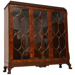 Antique Mahogany Astral Glazed Display Cabinet