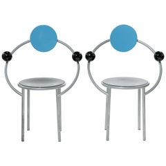 First Chair by Michele De Lucchi for Memphis Milano, Set of Two
