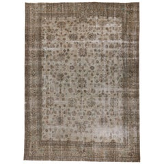 Distressed Sivas Rug with Shabby Chic Farmhouse Style