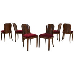 Set of Art Deco Dining Room Chairs from 1925
