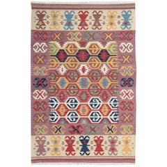 Handmade Multi colored Kilim Rugs, Traditional Rugs, Carpet from Afghanistan