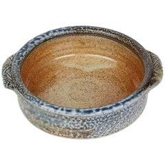 Jane Hamlyn Studio Pottery Saltglazed Handled Bowl 20th Century