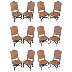 Set of 12 19th Century Painted Dining Chairs