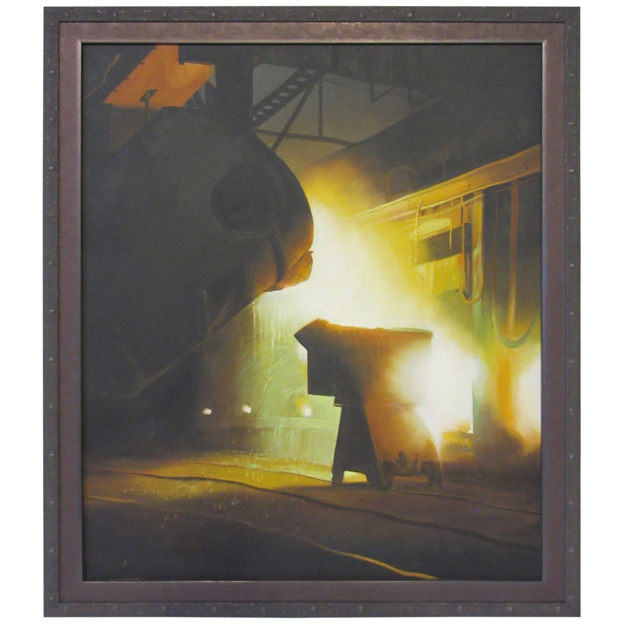 WPA Styled Industrial Steel Mill Painting