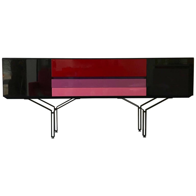Sideboard Console Lacquered, Italy, 1980s