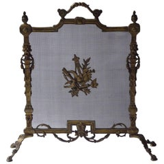 French Art Nouveau Fireplace Screen or Fire Screen
