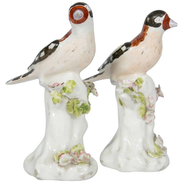 Pair of Derby Figures of Birds, 18th Century