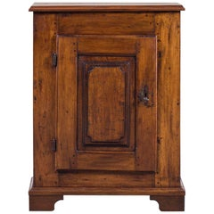 Shallow Antique French Louis XVI Walnut Cabinet, circa 1780