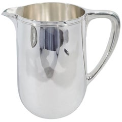 Tiffany Modern Sterling Silver Water Pitcher