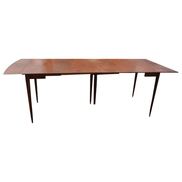 john widdicomb walnut round pedestal base table at 1stdibs