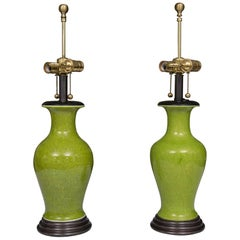 Acid Green Baluster Shaped Table Lamps