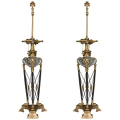 Modern Pair of Stylized Empire Table Lamps