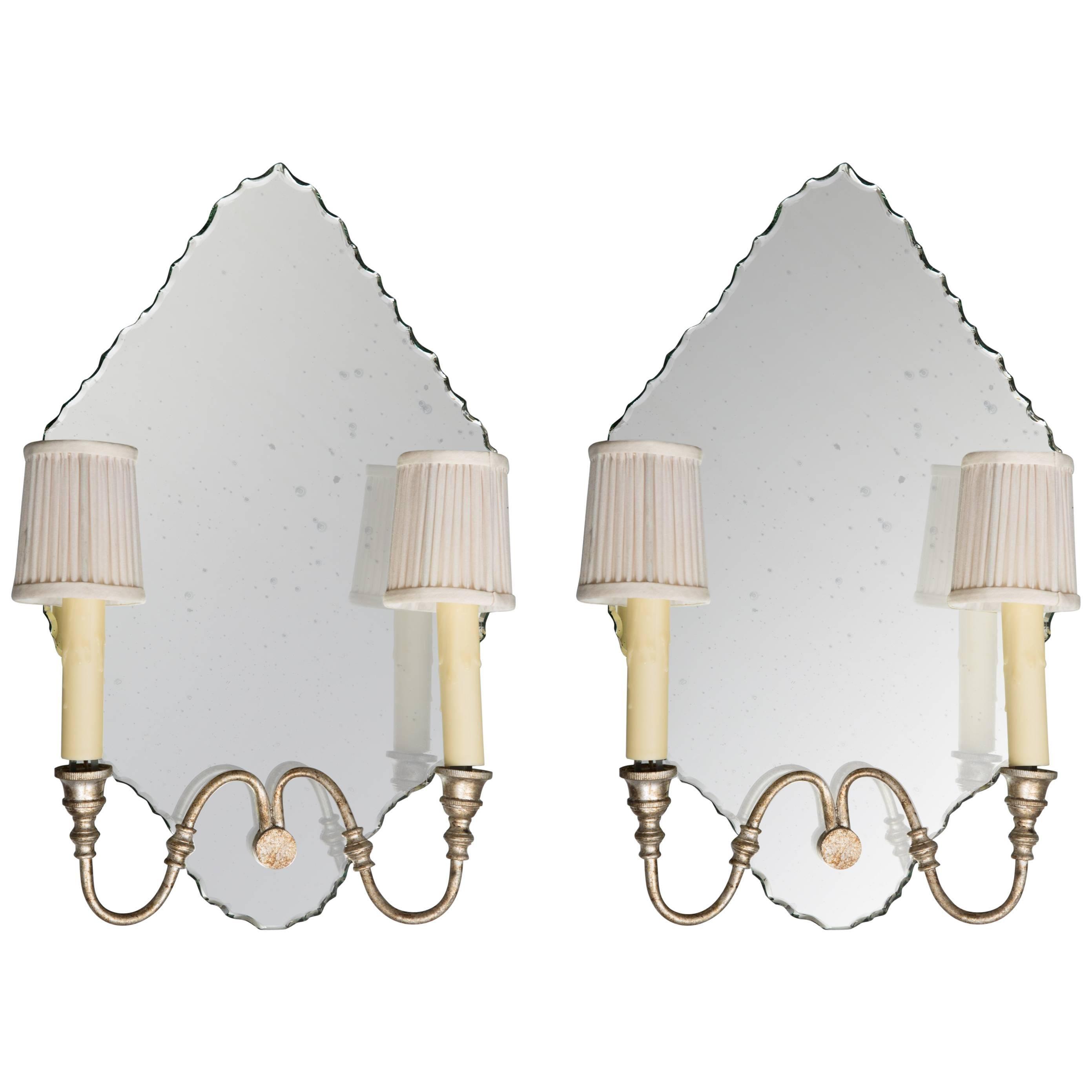 Pair of Italian Mirrored Sconces