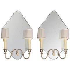 Pair of Italian Mirrored Sconces