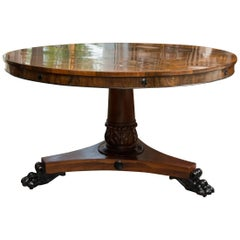 Regency Style Rosewood Centre Table with Ebonized Decoration
