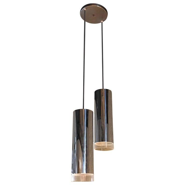 Modernist graduated chrome cylinder pendant light switzerland for modernist graduated chrome cylinder pendant light switzerland for sale aloadofball Images